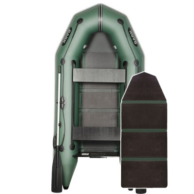 Надувная лодка Барк ВТ-270D со слань-книжкой и передвижными сиденьями