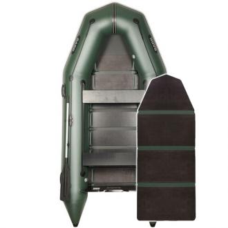 Надувная лодка Барк ВТ-330D со слань-книжкой и передвижными сиденьями