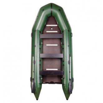 Надувная лодка Барк BT-420S с жестким фанерным дном и передвижными сиденьями
