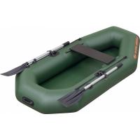 Надувная лодка Колибри К-210 зеленая, без настила