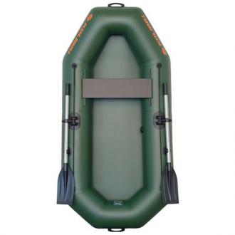 Надувная лодка Колибри К-210 светло-серая, без настила, одноместная