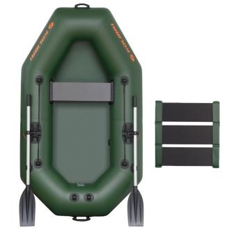 Надувная лодка Колибри К-220 светло-серая, слань-коврик