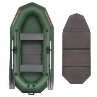 Надувная лодка Колибри К-290T двухместная, слань-книжка