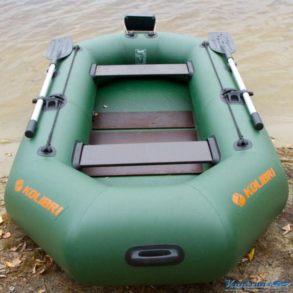 Надувная лодка Колибри К-260T двухместная, слань-книжка
