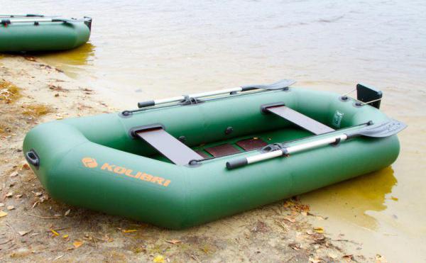Надувная лодка Колибри К-260T двухместная, слань-коврик