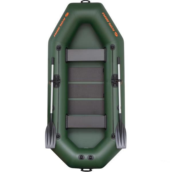 Надувная лодка Колибри К-280T зеленая, слань-коврик
