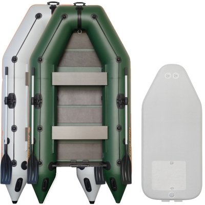 Надувная лодка Колибри КМ-300 двухместная, Airdeck