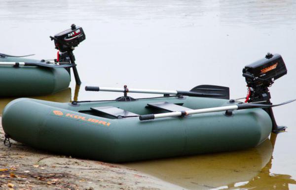 Надувная лодка Колибри К-290T двухместная, слань-коврик