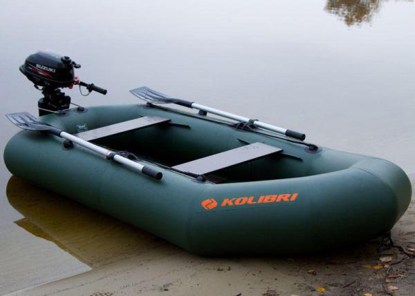 Резиновая лодка Колибри К-250T без регистрации, слань-коврик