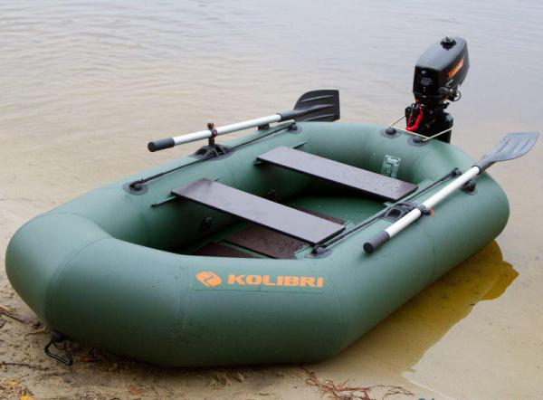 Надувная лодка Колибри К-270T двухместная, слань-коврик