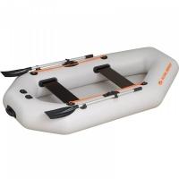 Надувная лодка Колибри К-240 светло-серая, слань-коврик
