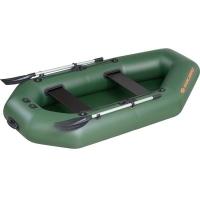 Надувная лодка Колибри К-240 зеленая, слань-книжка