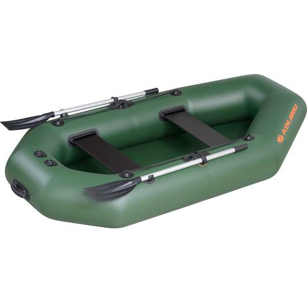 Надувная лодка Колибри К-240 двухместная, слань-книжка