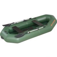 Надувная лодка Колибри К-270T зеленая, слань-коврик