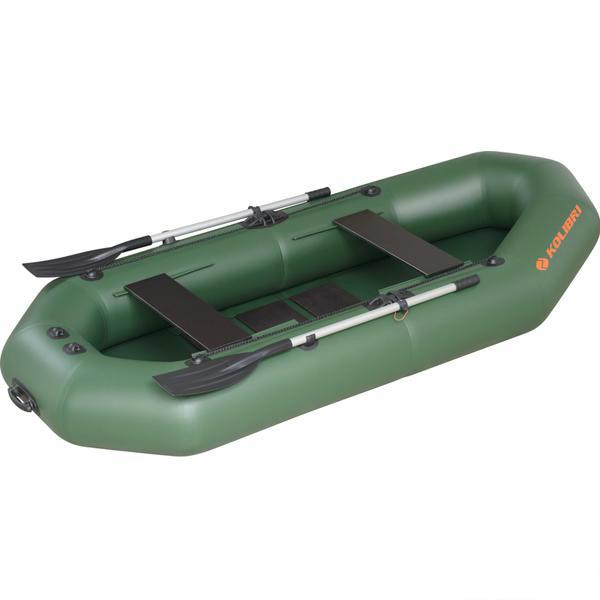 Надувная лодка Колибри К-270T двухместная, слань-книжка
