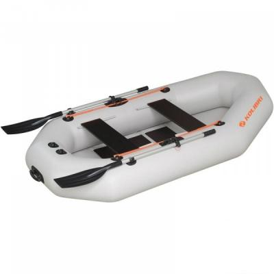 Надувная лодка Колибри К-270T светло-серая, слань-коврик