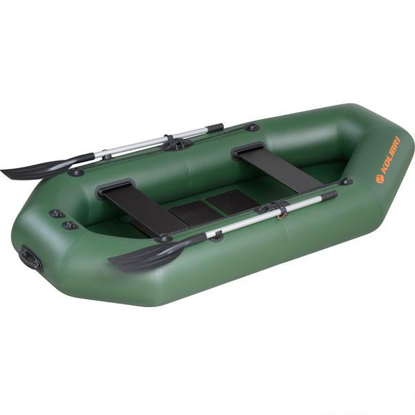 Надувная лодка Колибри К-280T зеленая, слань-книжка