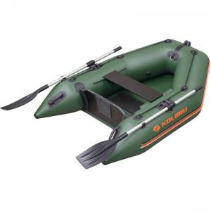 Надувная лодка Колибри КМ-200 зеленая, слань-книжка