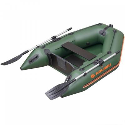 Надувная моторная лодка Колибри КМ-200 одноместная, слань-книжка