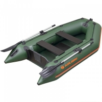 Надувная лодка Колибри КМ-260 зеленая, слань-книжка