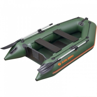 Надувная лодка Колибри КМ-260 двухместная, слань-книжка