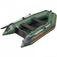 Надувная лодка Колибри КМ-260 зеленая, без настила