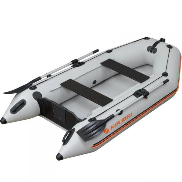 Надувная лодка Колибри КМ-280 зеленая, без настила