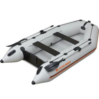 Надувная лодка Колибри КМ-300 светло-серая, слань-книжка