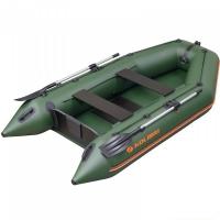 Надувная лодка Колибри КМ-300 зеленая, слань-коврик