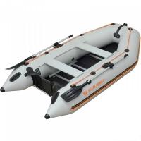 Надувная лодка Колибри КМ-300D светло-серая, настил из фанеры