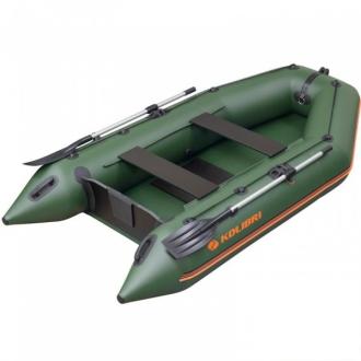Резиновая лодка Колибри КМ-330 зеленая, слань-коврик