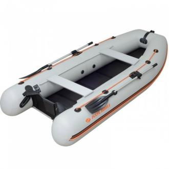 Надувная моторная лодка Колибри КМ-330DL светло-серая, слань-книжка