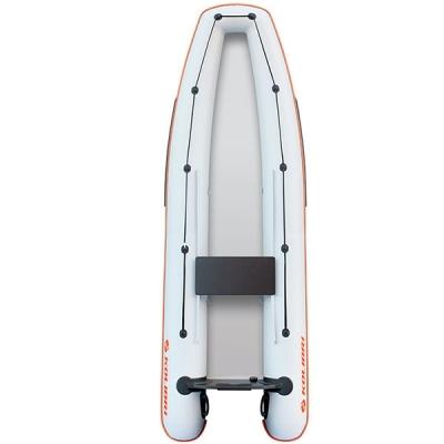 Каноэ надувное Колибри КМ-330С со слань-книжкой светло-серый