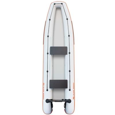 Каноэ надувное Колибри КМ-390С светло-серый со слань-книжкой