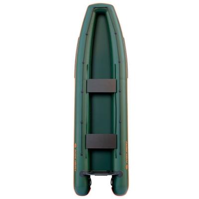 Каноэ надувное Колибри КМ-390С зеленый со слань-книжкой