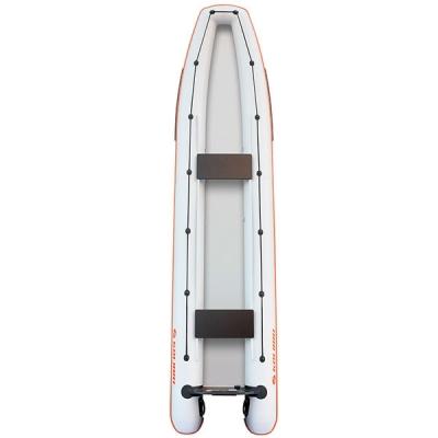 Каноэ надувное Колибри КМ-460С светло-серый со слань-ковриком