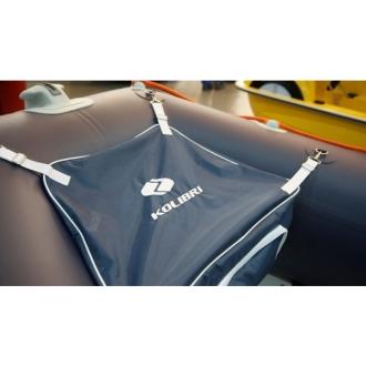 Носовая сумка для лодки ПВХ Kolibri КМ400DSL - КМ450DSL с комплектом креплений серая