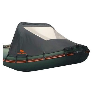 Носовой тент для надувной лодки Колибри KM-300, KM-330 черный